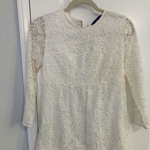 Zara white lace babydoll dress